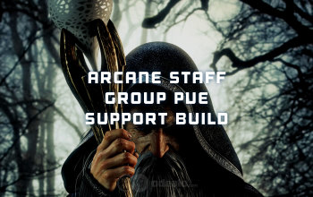 Arcane Staff Group PvE Support Albion Online build