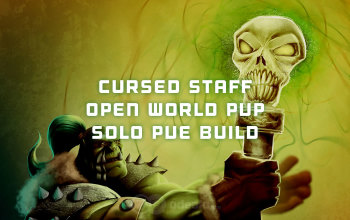 Cursed Staff Open World PvP/Solo PvE Albion Online build