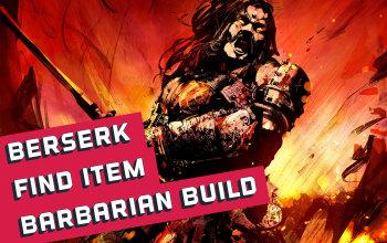 Berserk/Find Item Barbarian Build for Diablo 2 Resurrected