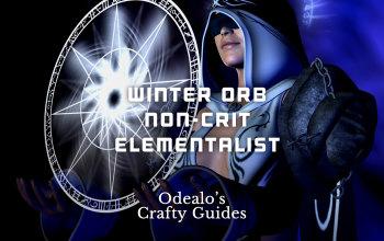Winter Orb Elementalist non-crit PoE build