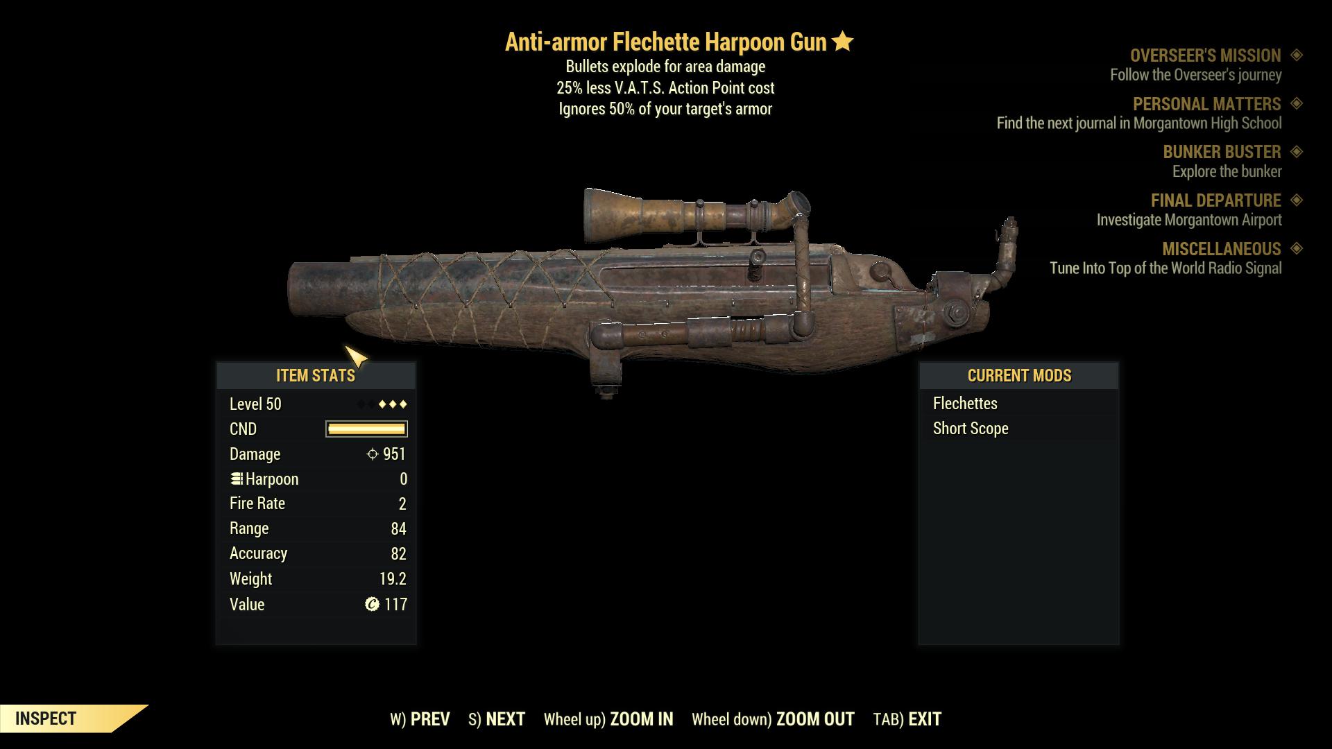 ★★★ Anti-Armor Explosive Harpoon Gun[25% Less VATS] | FAST DELIVERY |