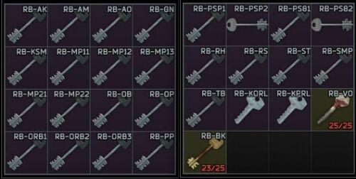 Reserve Keys Set (32 Keys) + 2 Docs Case + Wipe 12.11 | Instant Delivery