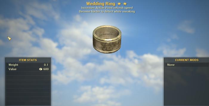 Wedding RING ( AP REFRESH + SNEAK) [Legendary Outfit]