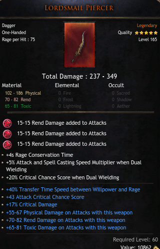 BLOODTRAIL ✅ FULL MATERIAL DAGGER ✅HUGE DAMAGE 237-349 ✅ TRANSFER TIME |ATTACK CRIT | CRIT DMG