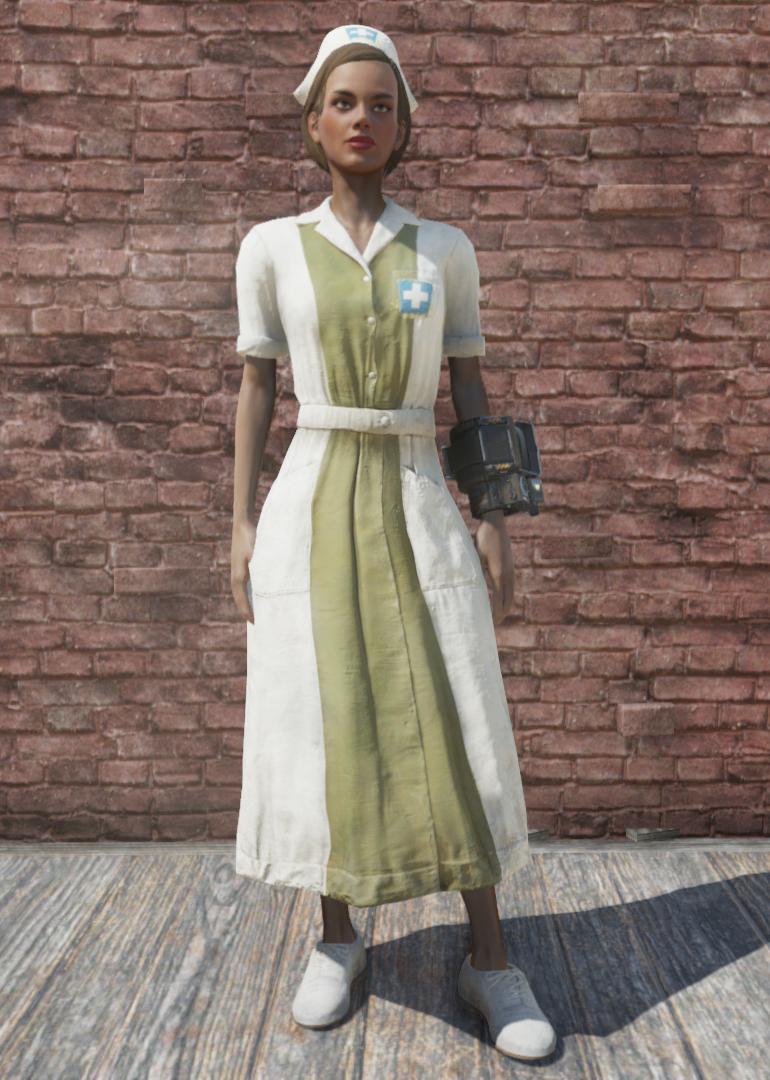 Asylum Worker uniform Forest [Outfit]
