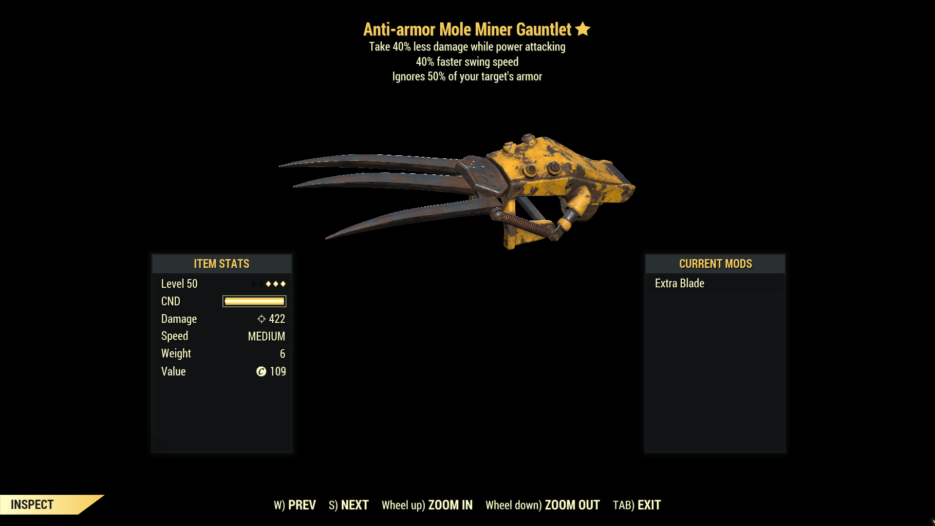 ★★★ Anti-Armor Mole Miner Gauntlet[40% Faster Swing][40% Less damage] | FAST DELIVERY |