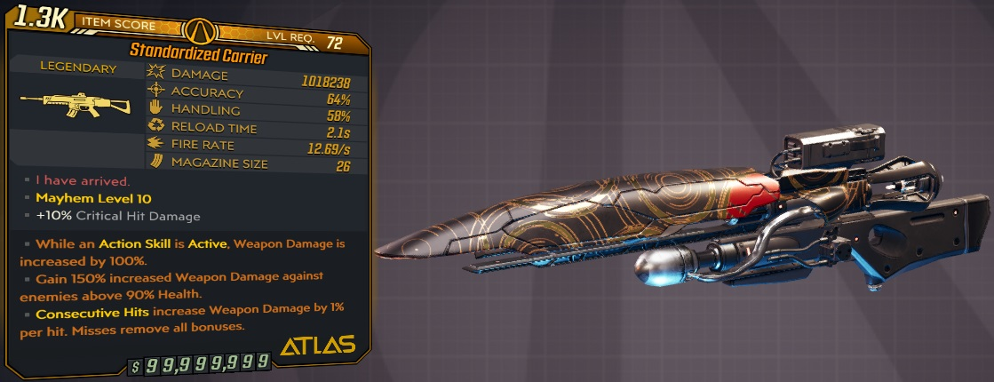 ★★★[PC/XB] M10/L72 - CARRIER 1.018.238 DMG - 12.69 FIRE RATE - ANOINTED x3 - CRAZY RIFLE!!★★★