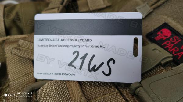 Object 21WS keycard