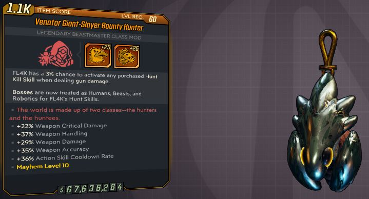 """[PS4] """"Bounty Hunter""""  MAYHEM 10 MODDED OP OR LEGIT ANNOINTED 