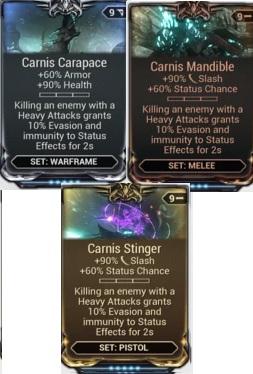 (PC) Carnis mod set (Carapace, Mandible, Stinger) // Instant delivery