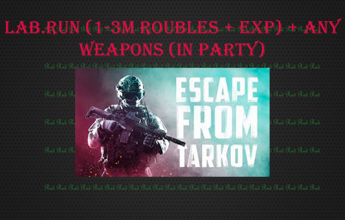 Lab.Raid (in party) (1-3M Roubles) (10-25% DIscount)
