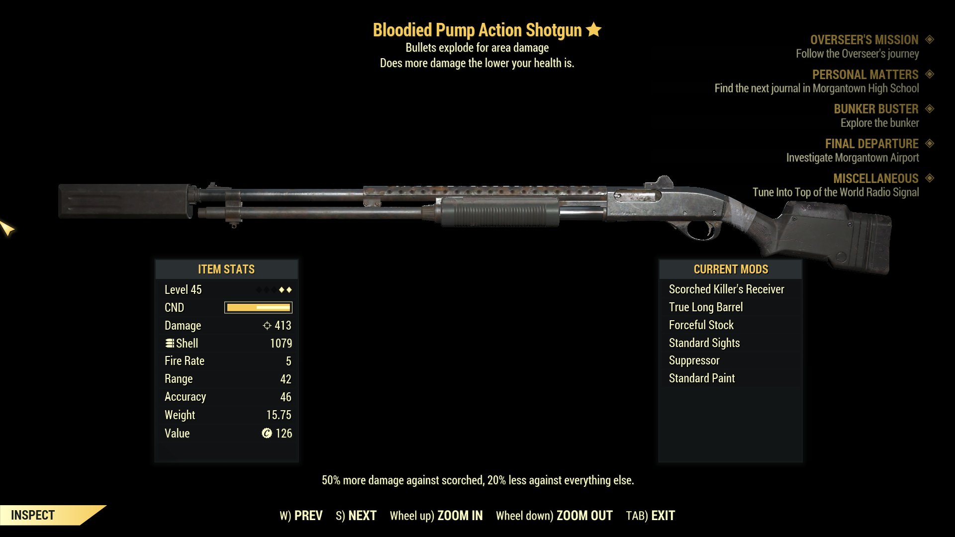 ★★ Bloodied Explosive Pump Action Shotgun   FAST DELIVERY  