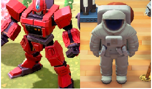Rare dress up items,total 10items,click deescription(robot hero+monster statue+teacup ride+lighthous