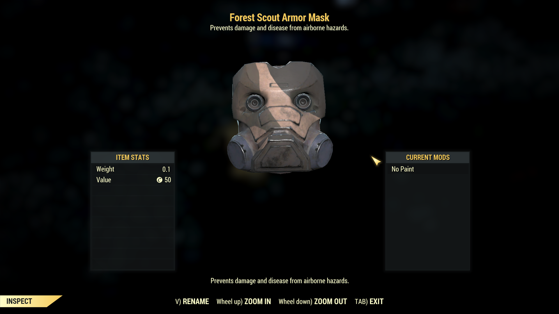 [Rare outfit] Forest Scout Armor Mask