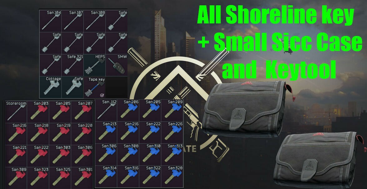 All Shoreline keys + 2 sicc case/Shoreline keys