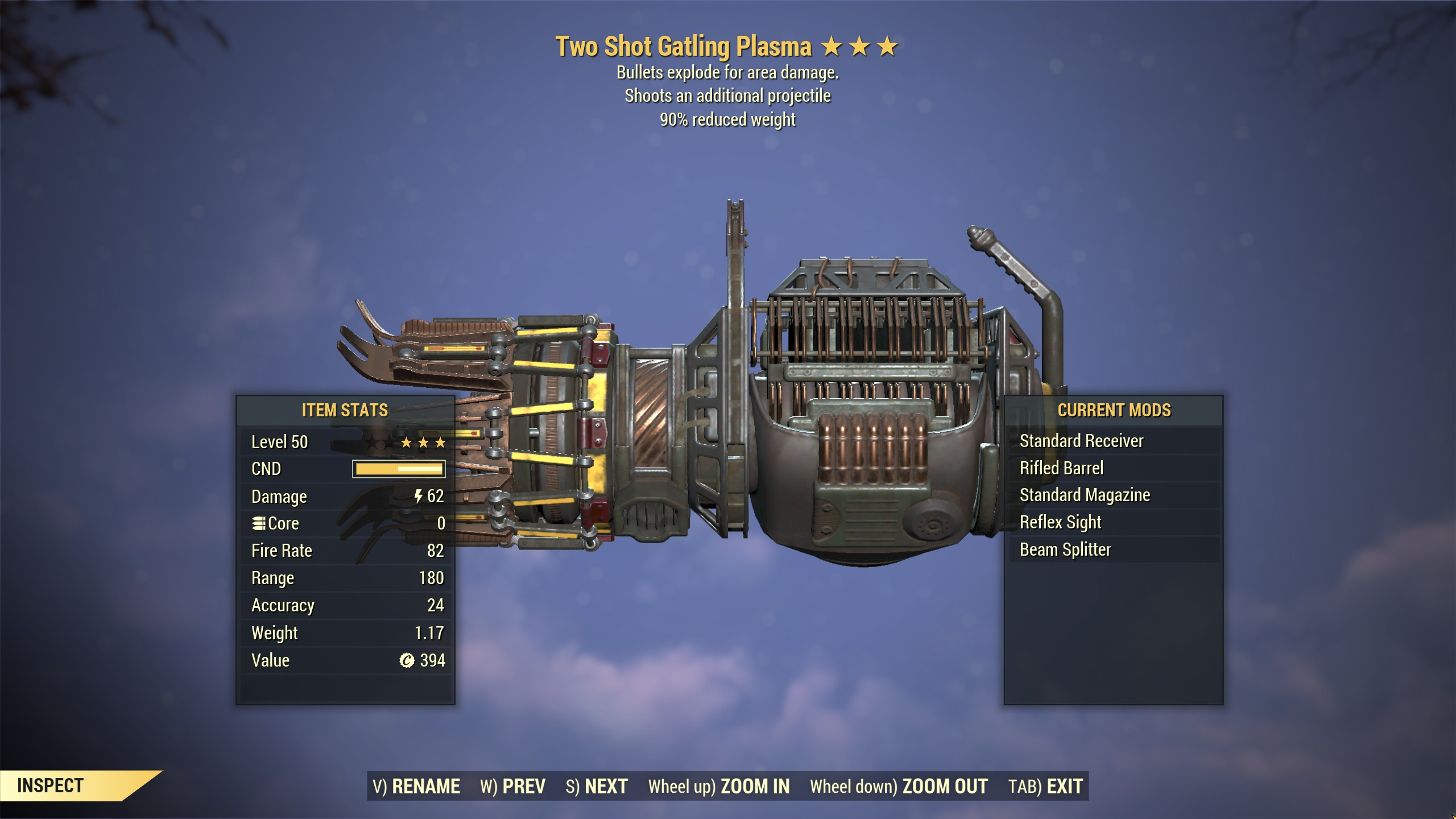 ★★★ Two Shot Explosive Gatling Plasma[90% Reduced Weight] | FAST DELIVERY |