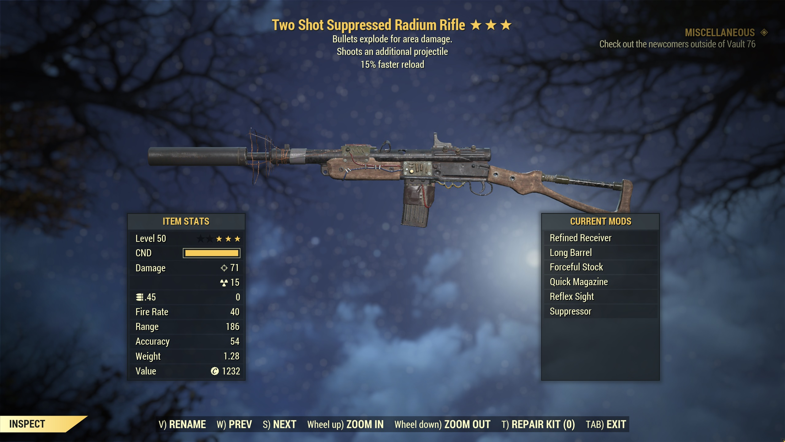 ★★★ Two Shot Explosive Radium Rifle[15% Faster Reload][Radiation Damage] | FAST DELIVERY |