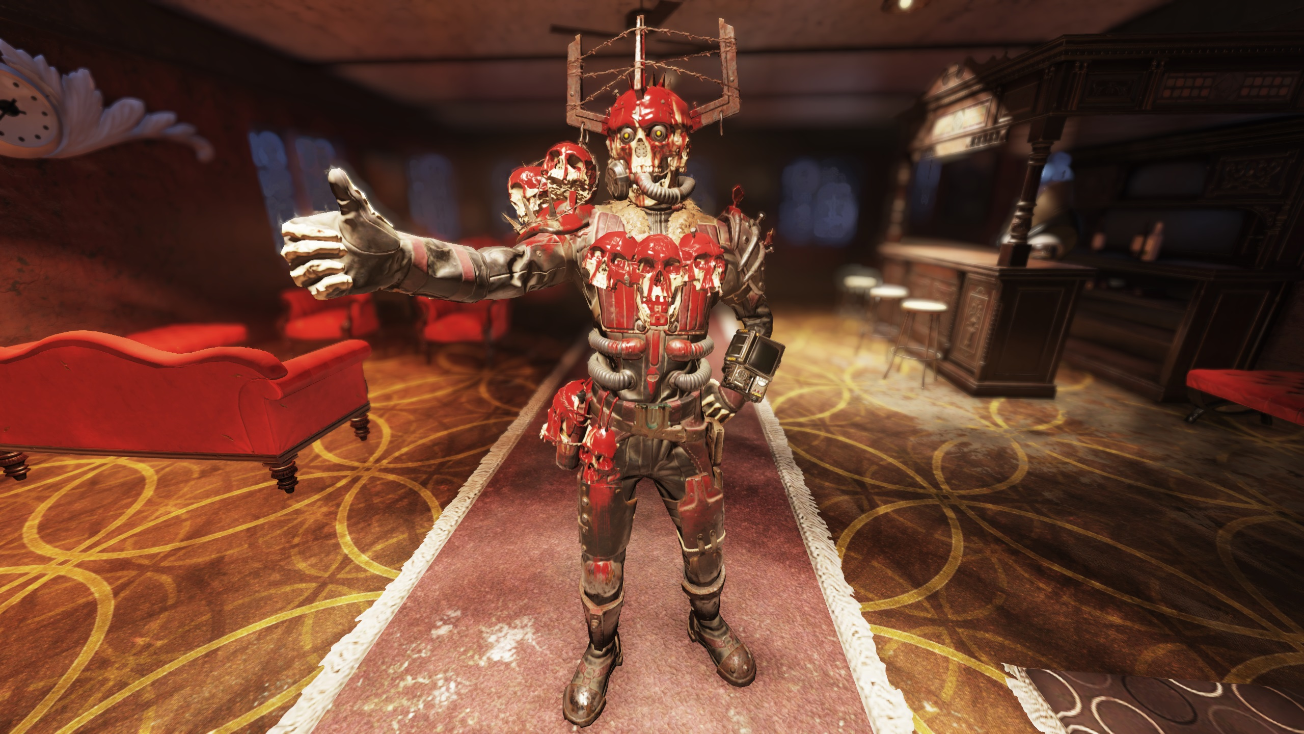 Skull Lord Blood Eagle Suit + Skull Lord Blood Eagle Helmet [Daily ops Rare reward] Outfit Set