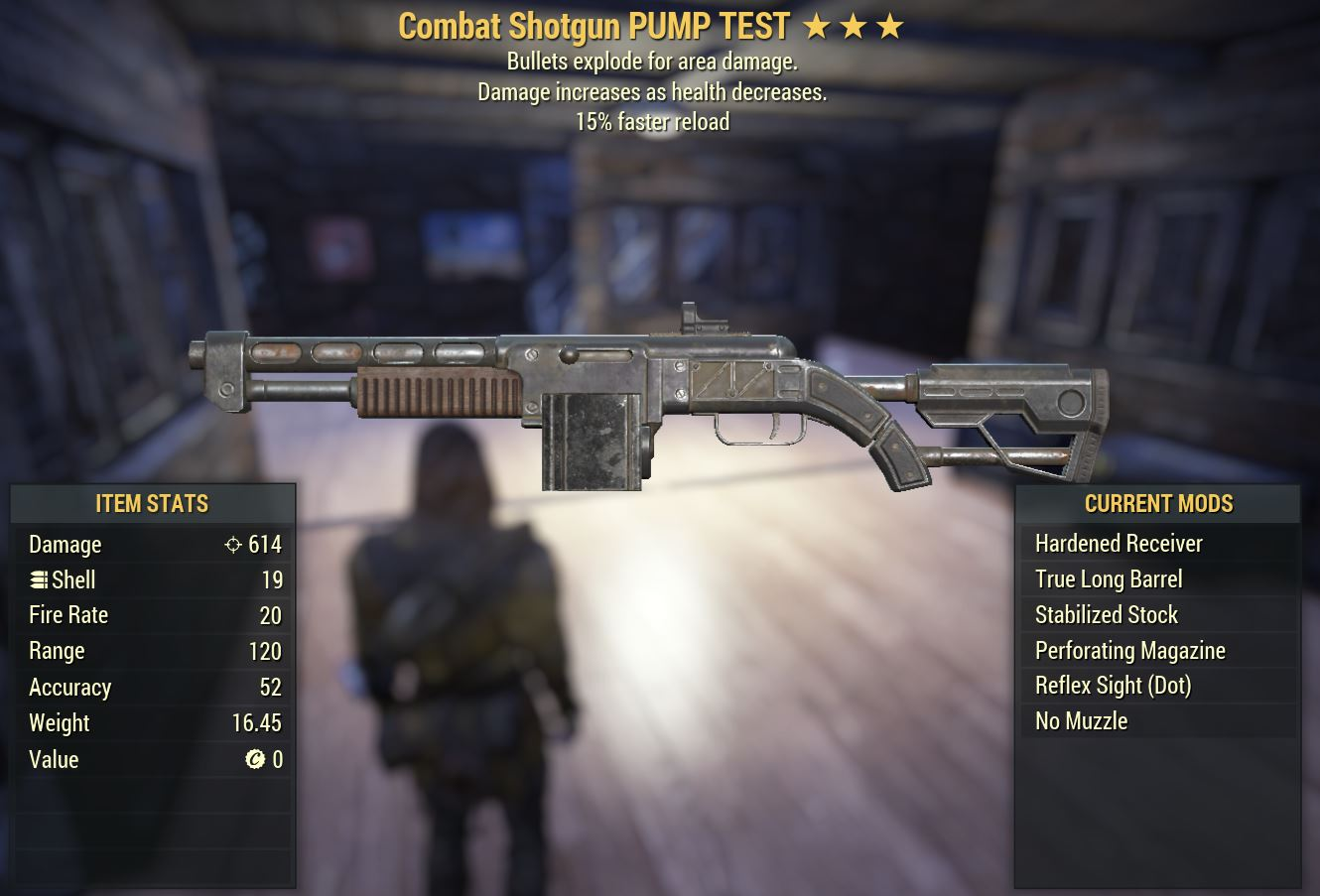 Glitched UNBREAKABLE Combat Shotgun BE15r