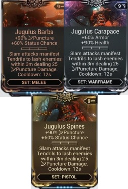 (PC) Jugulus mod set (barbs, carapace, spines) // Instant delivery