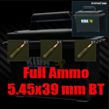 ★ ❤️【Ammo 5.45x39 BT ▶ Ammo Case ▶ 2940 Bullet 】❤️ ★