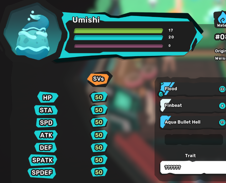 Umishi/Ukama Egg - Perfect SVs 7/7 - All Egg Move - Chance of Luma - Your Own Original Tamer Name
