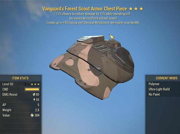 Apparel | ⭐⭐⭐Vanguard's Sentinels Forest Scout Armor FULL SET 5/5 AP REFRESH