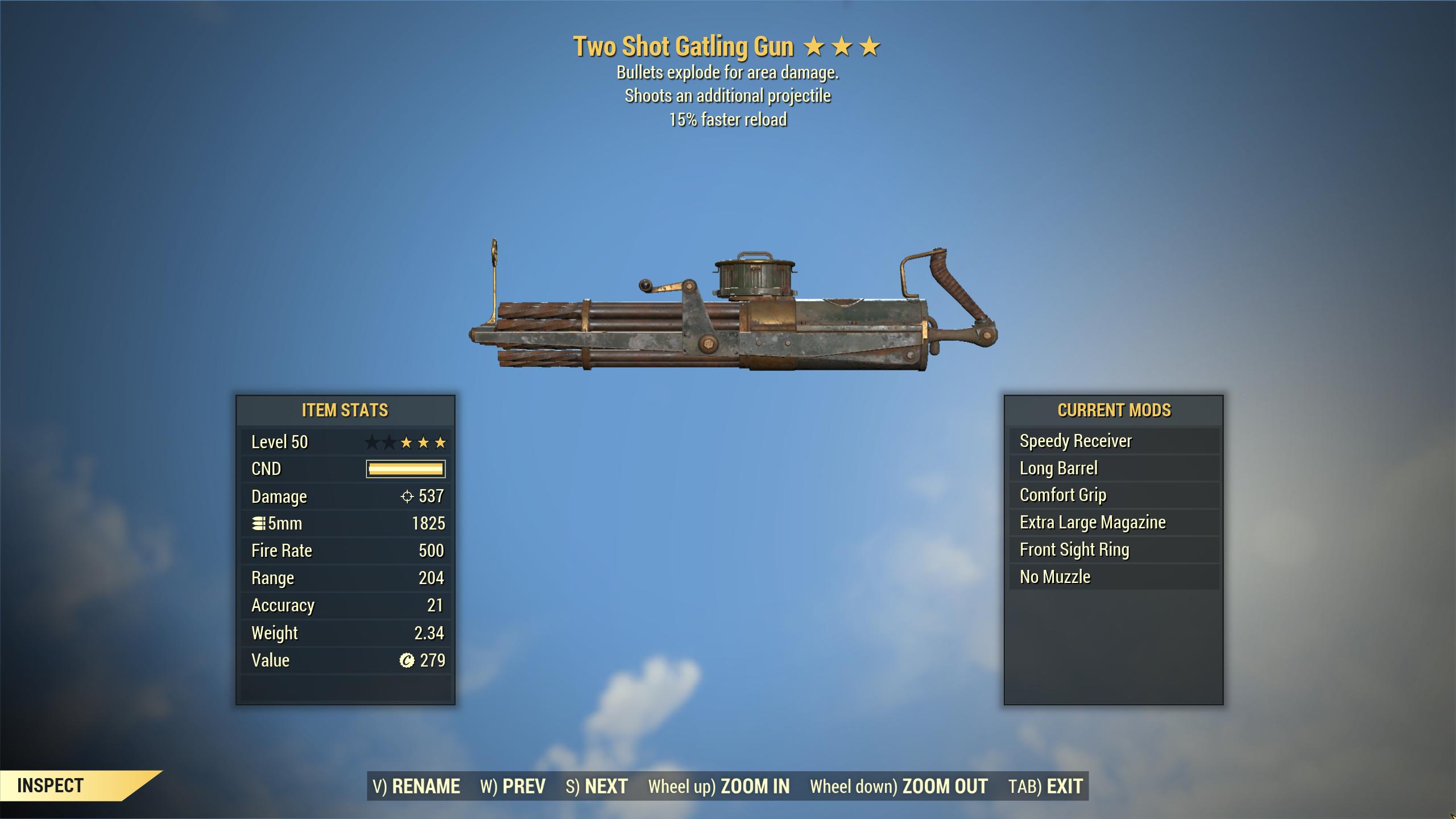 ★★★ Two Shot Explosive Gatling Gun[15% Faster Reload]   FAST DELIVERY  