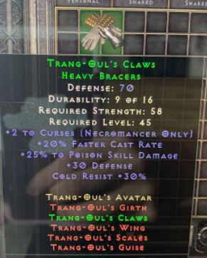 ★ Trang Oul's Claws - D2R - Softcore ★  1-PC