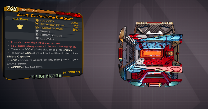 [PC] Transformer Front Loader / 75.000 Capacity / 100% Shock Resist / 40% chance to absorb - Fast De