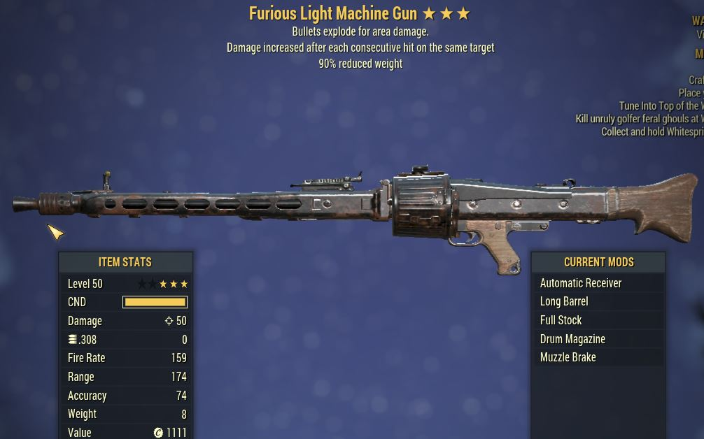 [PC] Furious Explosive LMG [90WR]