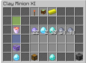 1.25$=Maxed out T11 clay minion (Super Compactor 3000, Enchanted Lava Bucket, Diamond Spreading)