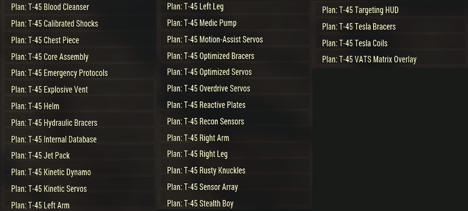 [PC] T-45 Plans Pack | 30 plans (list of plans in the pictures) - Fast Delivery