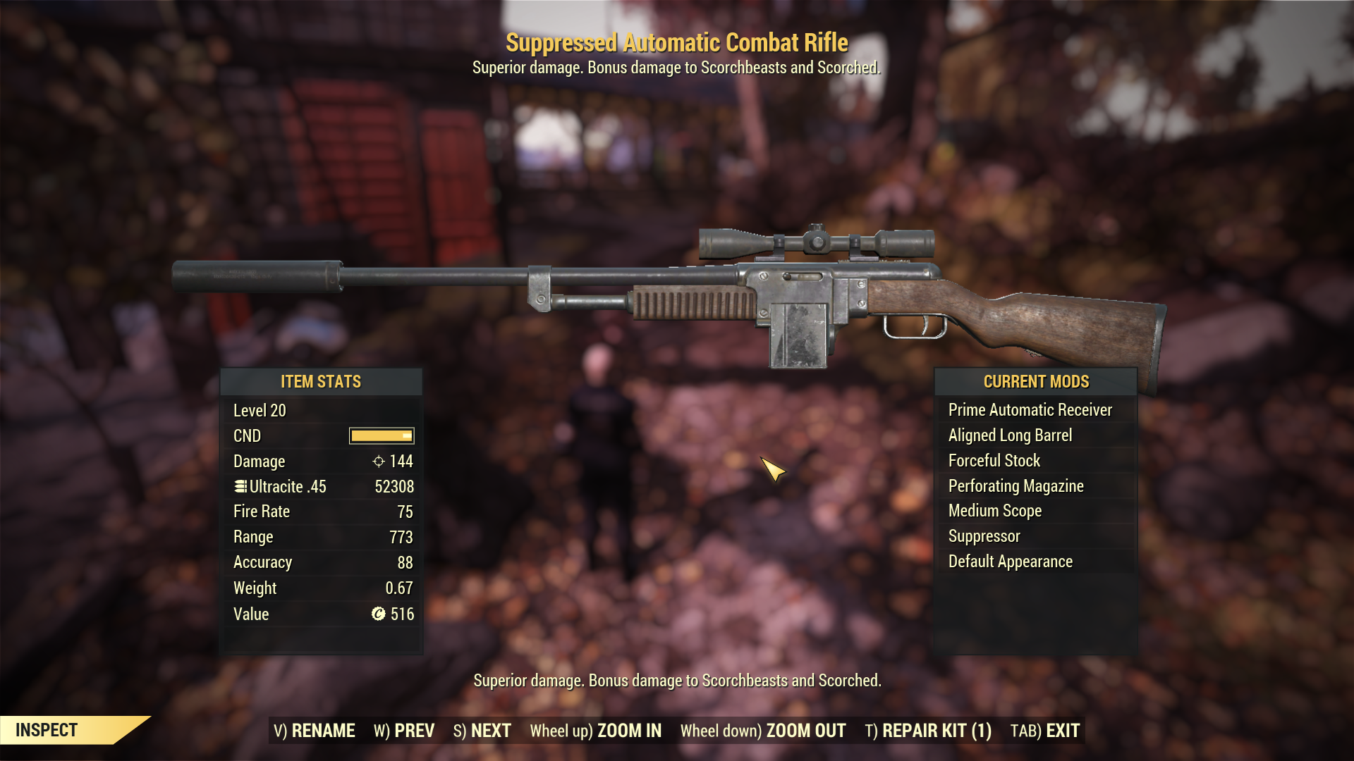 [Nuclear Winter Weapon] NW Combat Rifle (lv 20) (700+ range, higher dmg)