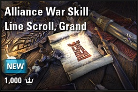 [NA - PC] alliance war skill line scroll grand (1000 crowns) // Fast delivery!