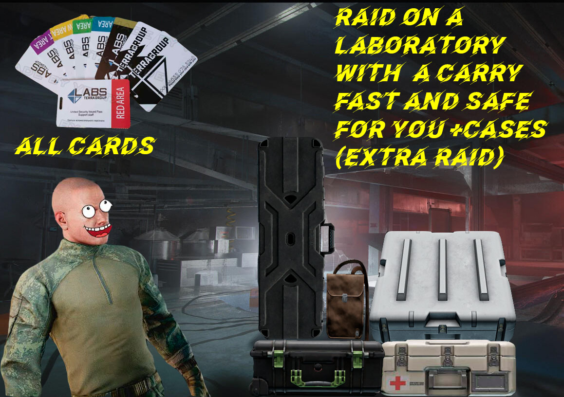 RAID ON A LABORATORY WITH A CARRY + ALL CARDS + CASES (FAST AND SAFE FOR YOU) (Extra Raid)