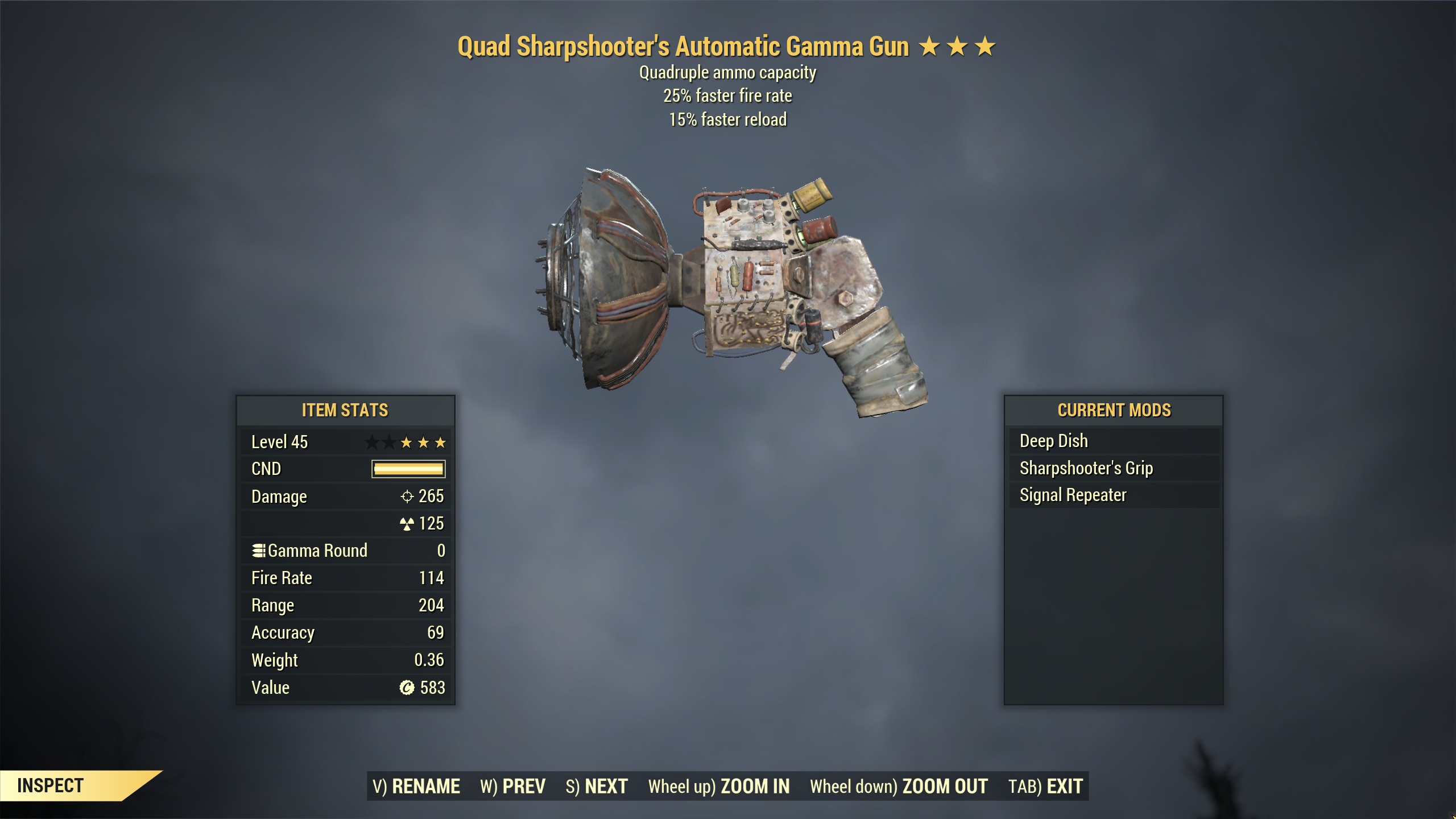 ★★★ Quad Gamma Gun[25% Faster Fire Rate][15% Faster Reload]   FAST DELIVERY  