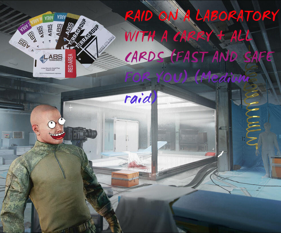 RAID ON A LABORATORY WITH A CARRY + ALL CARDS (FAST AND SAFE FOR YOU) (Medium raid)