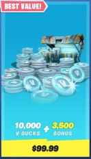 Fortnite - 25% OFF for All V-Bulks Pack Top Up/Recharge - PC & Android Platform Only