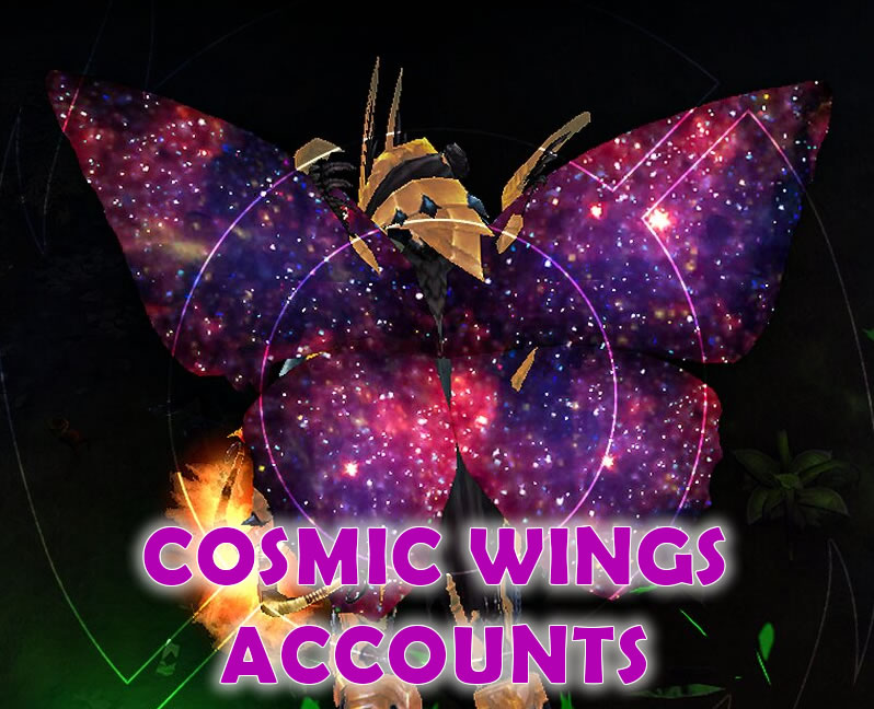 ❤️COSMIC WINGS ACCOUNT❤️PC EU Tons of Crafting Materials and Gems P1400+