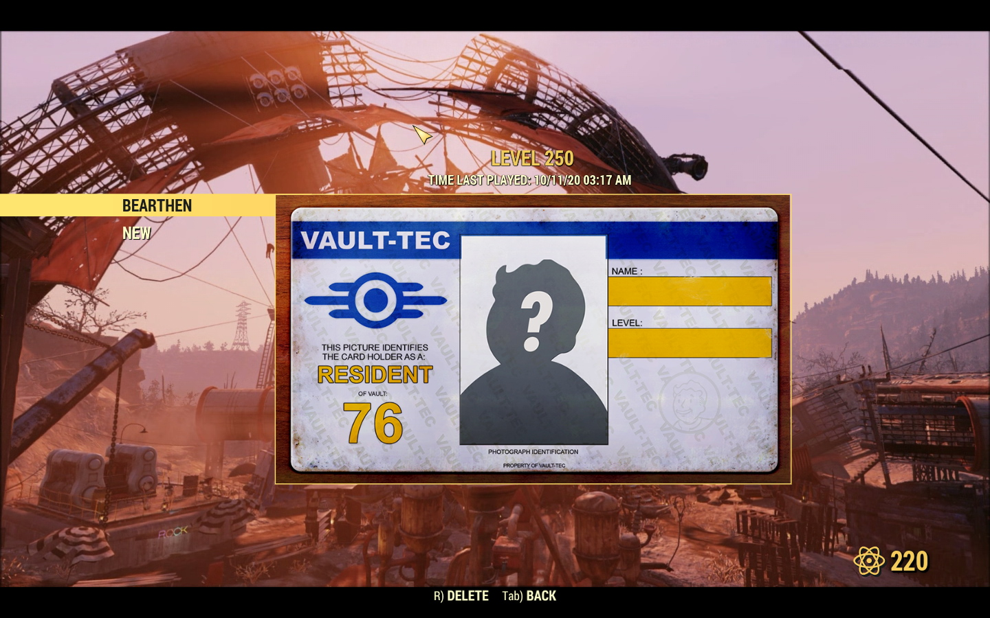 Ultimate Personal Fallout 76 account, Lvl 250, AA/Bloodied/Explosive guns, Unyielding Forest Scout S