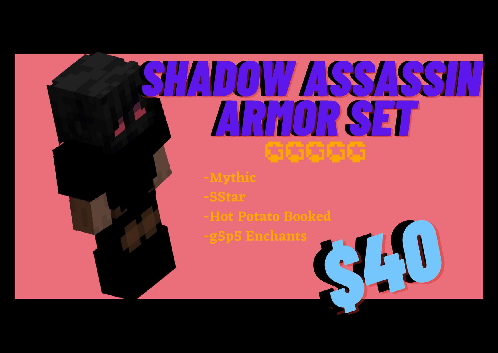 [Minecraft Hypixel Skyblock] Shadow Assassin Armor Set ($40)