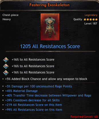 ✅BEST MAX STAT CHEST |1205 ALL RES|5% DMG PER 100 RAGE|45% MATERIAL DAMAGE| 40TRANSFER|39 COOLDOWN✅