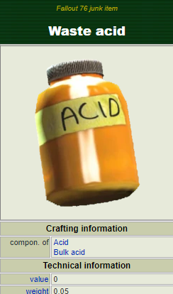(PC) Waste acid [1000 pieces]