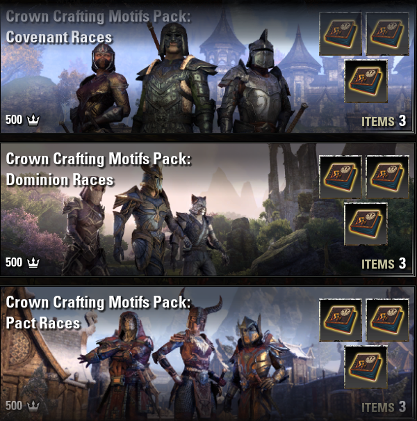 Crown Crafting Motifs Pack: Covenant + Dominion + Pact Races [EU-PC]