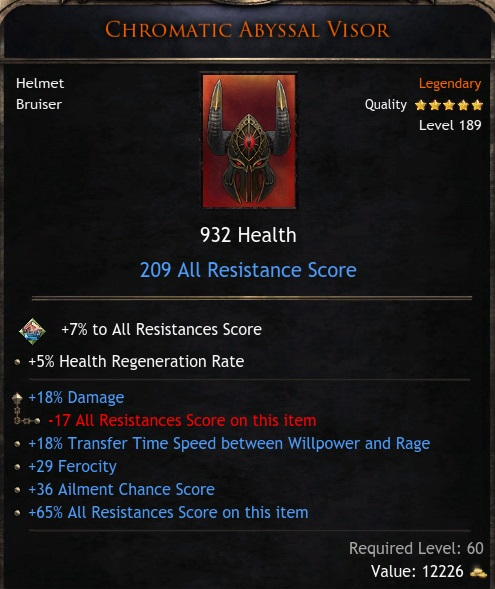 ★★★TOP HELM 932 HP 209 RES (18% GLOBAL DMG, 18% Transfer Time, 29 Fero) - Bloodtrail - INSTANT★★★