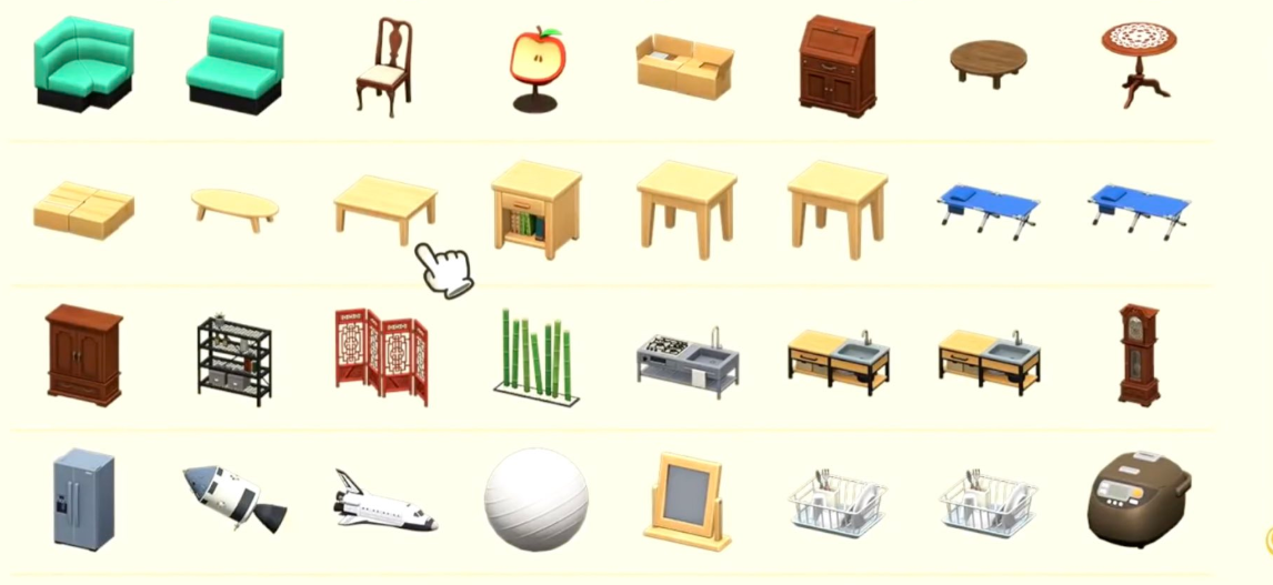 Animal Crossing Furniture-Any one of them: 2.75 USD Each