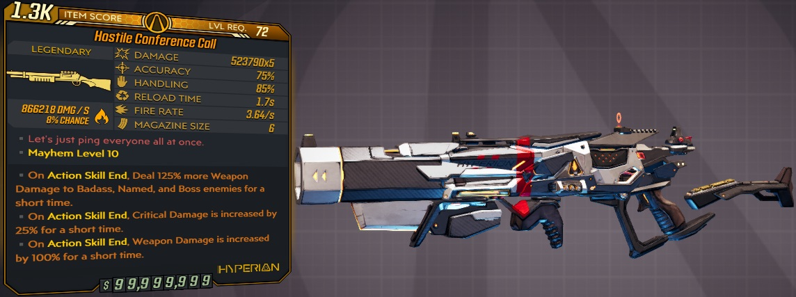 ★★★[PC/XB] M10/L72 - CONFERENCE CALL 523.790x5 DMG (~866k ANY ELEMENT DMG) - 1.7s RELOAD - ANO★★★