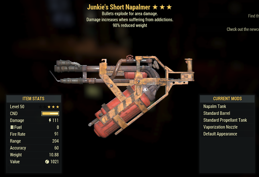Junkie's Explosive Flamer 90% Weight