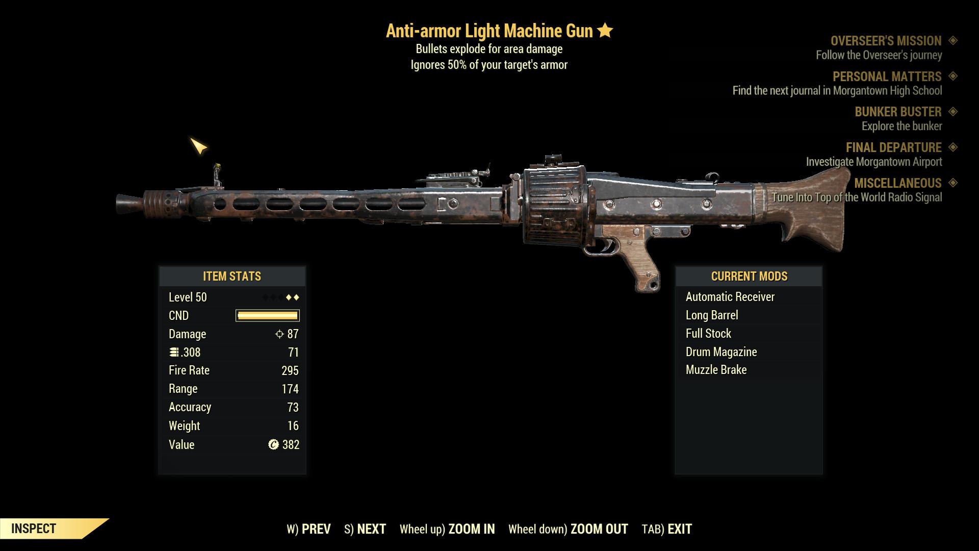 ★★ Anti-Armor Explosive Light Machine Gun   FAST DELIVERY  